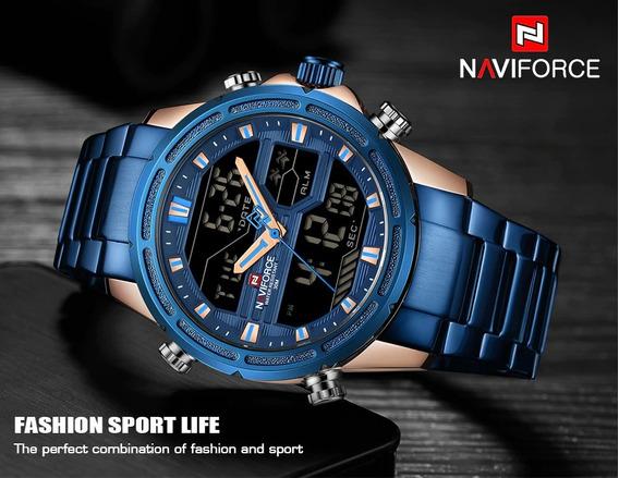 Relógio Naviforce Original Azul Barato