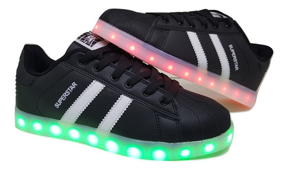 Zapatillas Con Luces Led Recargables Talles 40 Al 45 3 Color