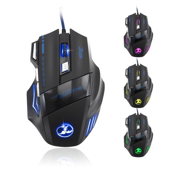 Mouse Pro Gamer 5500 Dpi 7 Botões Led Óptico Usb