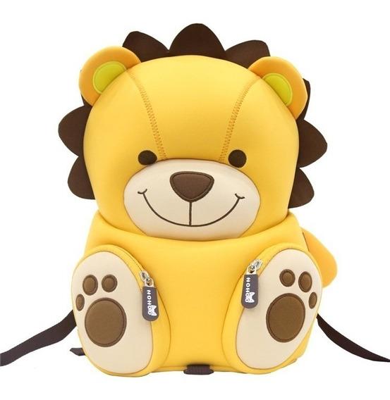 Bolsa Mochila Animais Safari 3d Infantil Bebê Criança Zoo