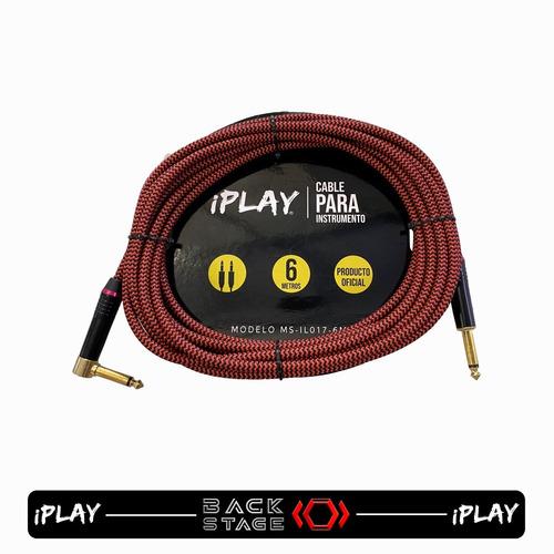 Imagen 1 de 7 de Iplay Ms-017-6m Cable Textil De 6 Metros Conector Angulado