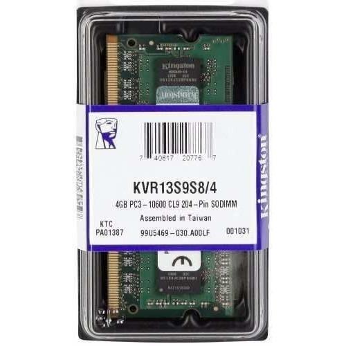 Memória Kingston 4gb 1333mhz Ddr3 P/ Notebook Kvr13s9s8/4