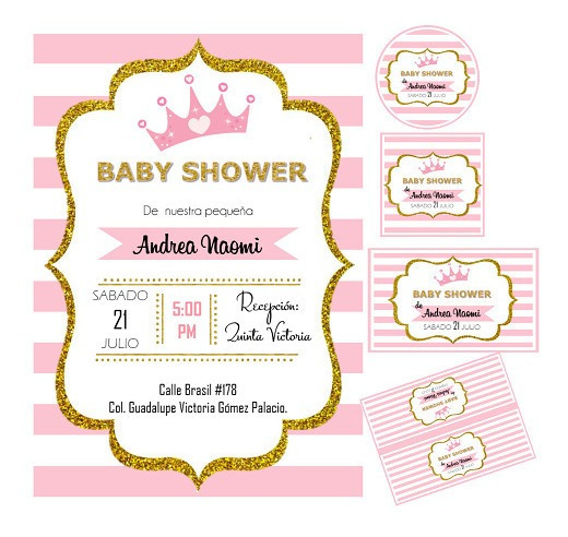 Kit Invitaciones Baby Shower Originales En Mercado Libre México