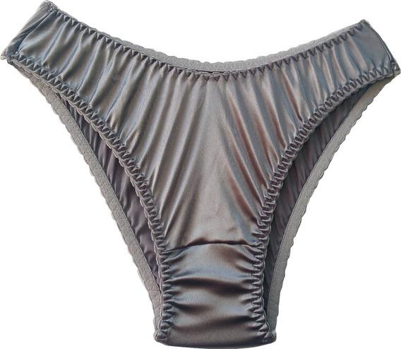 Pack 6 Pantaletas Bikini Satín Brillante Importada Japón