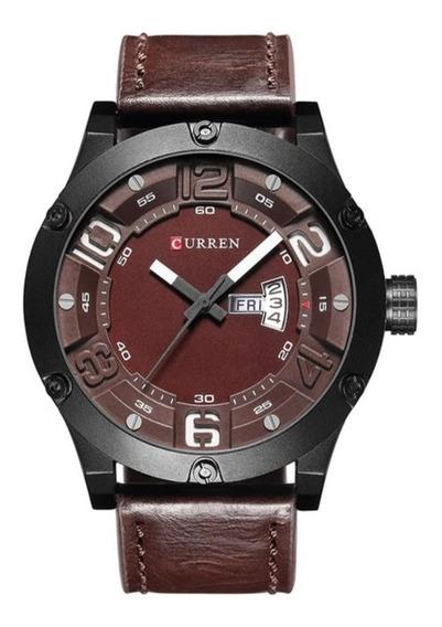 Relógio Masculino Curren 8251 Luxo Couro Social Casual