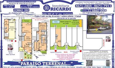 Paraíso Terrenal... Elegante Tríplex Con Parque + Pileta