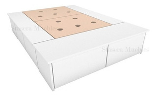 Base Box Cama Con 6 Cajones 2 Plazas Para Colchon 1,40 Mts