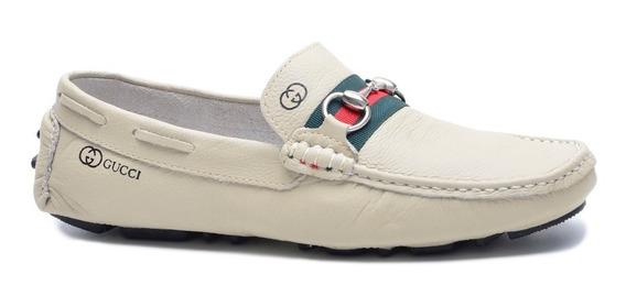 Mocassim Sapato Masculino Gts Couro Legitimo Envio Já