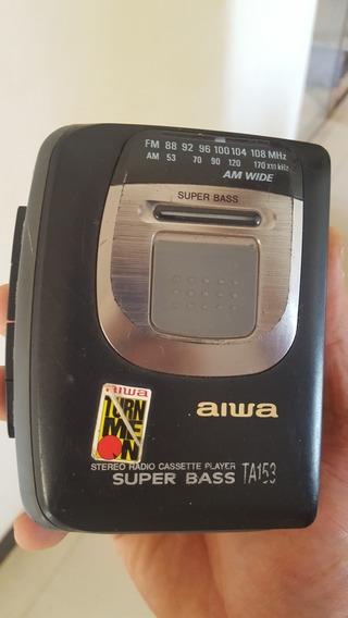 Wlakman Aiwa Super Bass Ta153 Funcionando - Com Peq. Defeito