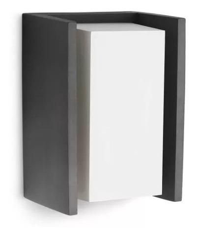 Aplique Para Exterior Philips Ecomoods Negro / Blanco