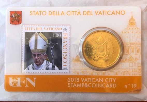 Blister Moneda Y Estampilla Del Vaticano Año 2018