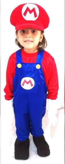 Disfraz De Mario Bros Para Niño Fiestas Eventos