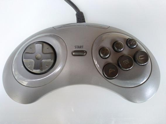 Controle Sega Mega Drive 6 Botões Original Cinza Testado