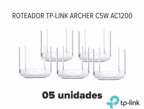 Kit 5 Roteadores Wifi Tp-link Archer C5w Ac1200 1200mbps
