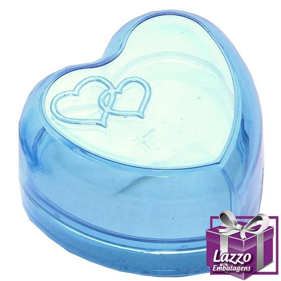 120 Embalagem Caixinha Coração Acrilico Para Anel Atacado