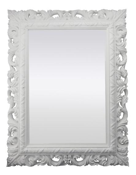 Espelho Decorativo Branco Sofisticado Qualidade 51x66x4cm