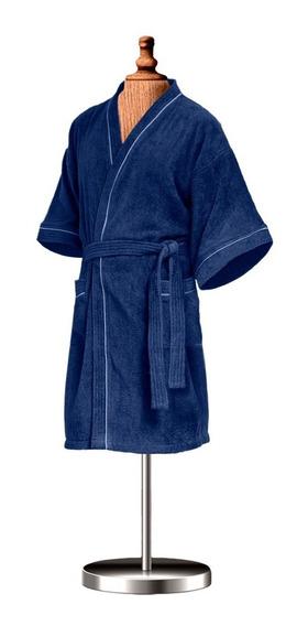 Bata De Baño Para Caballero Azul Marino 100% Algodón Premium
