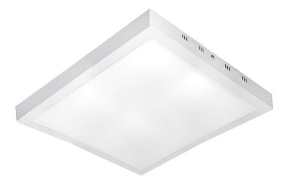 Plafon Luminária Sobrepor 40x40 Led 42w Branco Frio Teto