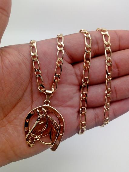 Cordão+pingente De Ouro 18k Banhada Grumet 165