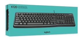 Teclado Logitech K120 Com Fio Usb Abnt2 Ç Resistente Água