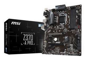 Placa Mãe Msi Z370-a Pro Lga1151 Ddr4 4000mhz M.2 Usb 3.1