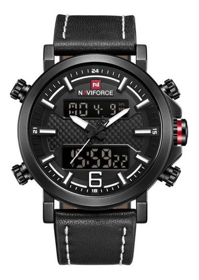 Relógio De Luxo Naviforce Dual Time Masculino
