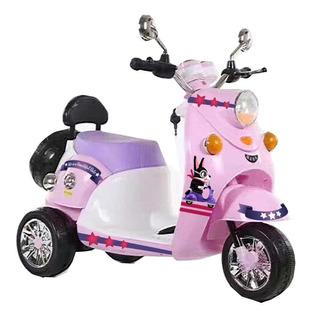 Moto Scooter A Bateria Bebesit 6v Luces Y Sonido Rosa
