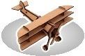Aviões - Quebra-cabeça 3d Em Madeira(mdf)