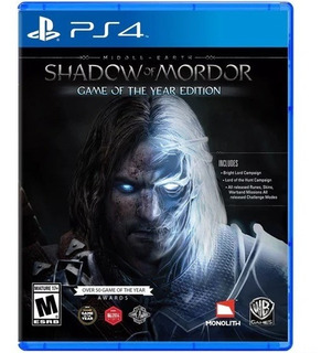 Middle Earth Shadow Of Mordor Ps4 Game Of The Year Nuevo