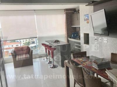 Apartamento Tatuapé 157m² - Terraço Gourmet - 4 Vagas