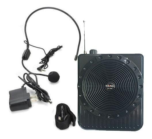 6 Unidades - Caixa De Som Cintura Portatil Microfone
