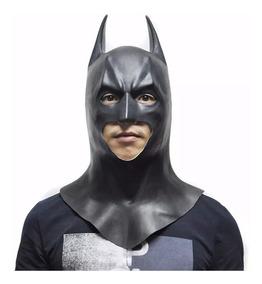 Máscara Batman Latex Heroi Liga Da Justiça - Pronta Entrega