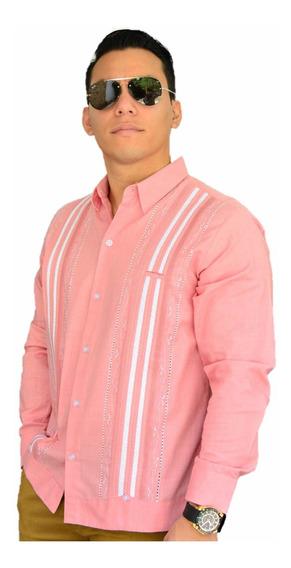 Camisa Guayabera Yucateca Casual Lino Manga L _cfkkkplum02