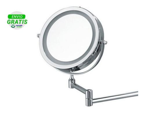 Espejo Pared Iluminación Led Aumento 10x Y 1x Reversible 360