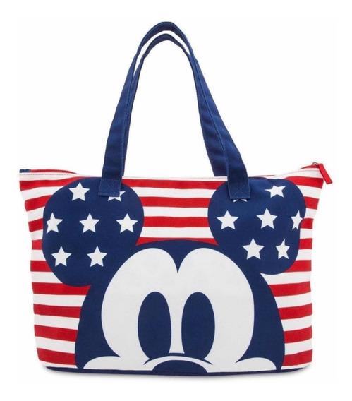 Bolsa Mickey Mouse Tote Dobrável Nova Disney Importada