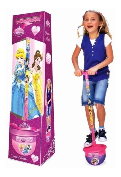 Brinquedo Pula Pula Infantil Jump Ball Princesas Disney Rosa