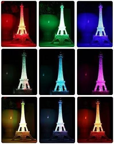 Torre Eiffel Pequeña Led Fiesta Arlequin Hora Loca