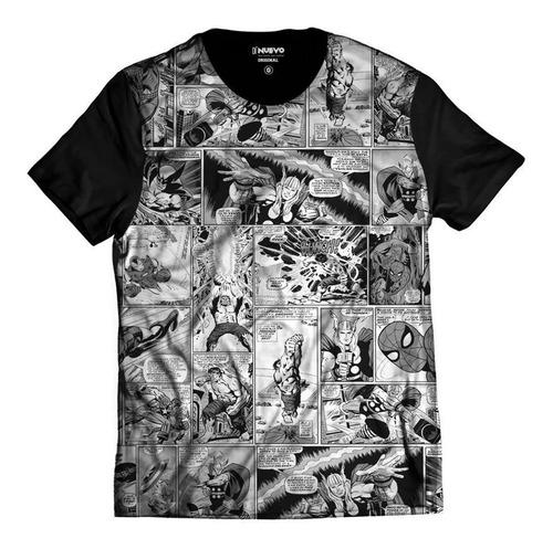 Imagem 1 de 2 de Camiseta Gibis História Em Quadrinhos Heróis