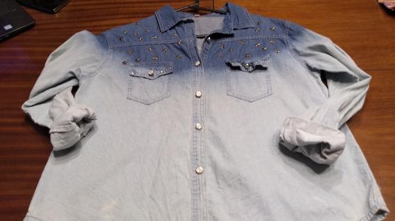 Camisa D Ejean En Degradee Estrellas T Medium