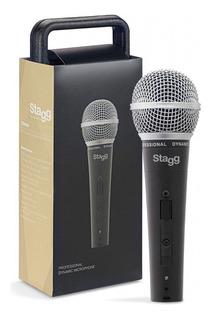 Micrófono Vocal Stagg Sdm50 Dinámico Cardioide Cable Estuche
