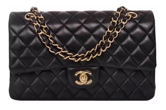 Bolsa Chanel 2.55 (média) Couro Lambskin Metais Dourado