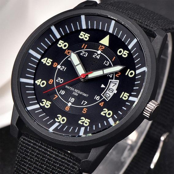 Relógio Masculino Analógico Barato Calendário Xi New Preto