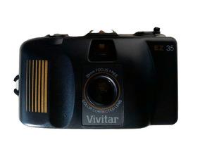 Câmera Máquina Fotográfica Antiga Vivitar Com Chaveiro