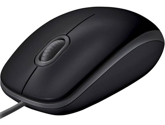 Mouse Logitech M110 Usb Com Clique Silencioso Preto