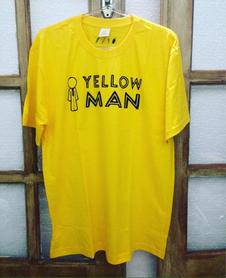 Camiseta / Baby Look Yellow Man - Homem Amarelo