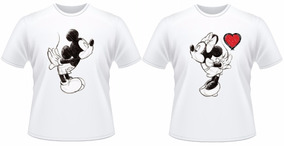 Camiseta Kit Mozão Mickey E Minnie