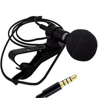 Micrófono De Solapa Lavalier Con Jack 3.5mm, Incluye Funda!