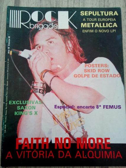 Revista Rock Brigade Faith No More - Sepultura (sem Pôster)