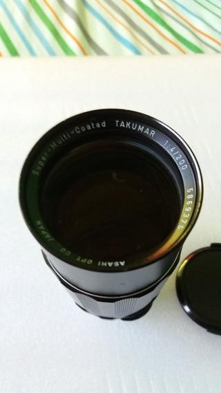 Lente Smc Takumar 200mm F4 M42