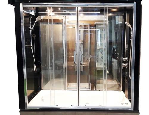 Mampara Baño Bañera 160x150 Vidrio Incoloro 4 Hojas